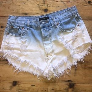 Ombré Ripped Jean Short